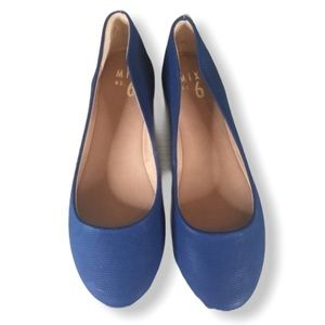 Mix No. 6 Faux Leather Blue Danzey Ballet  Flats